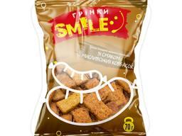 """Грінки домашні """"Smile"""" зі смаком мисливських ковбасок70г (100 шт/ящ)"""