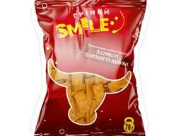 """Грінки домашні """"Smile"""" зі смаком телятини та аджики 70г (100 шт/ящ)"""