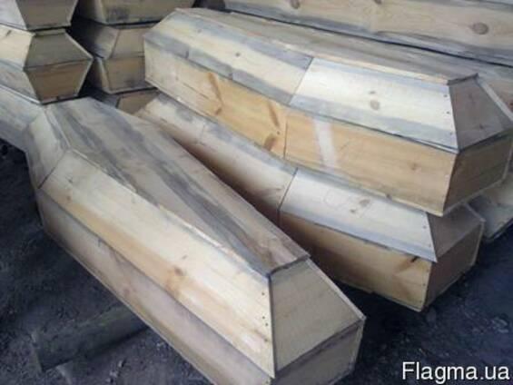 Гробы шестигранные деревянные под ткань