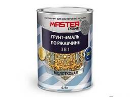 Грунт-эмаль 3в1 молотковая Master Prime серый 0, 9л