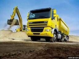 Грузоперевозка сыпучих грузов - самосвал поуприцеп 30 тонн