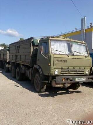 Грузовые перевозки, грузоперевозки КАМАЗ с прицепом