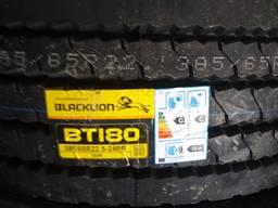 Грузові вантажні шини 385/65R22.5 164K 24PR BLACKLION ВТ180 резина Прицеп