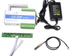 GSM модуль реле восьмиканальное на 220В (9-12В) CL8-GSM с датчиком температуры и влажности