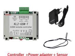 GSM реле двухканальное KL-2-GSM-T с датчиком температуры