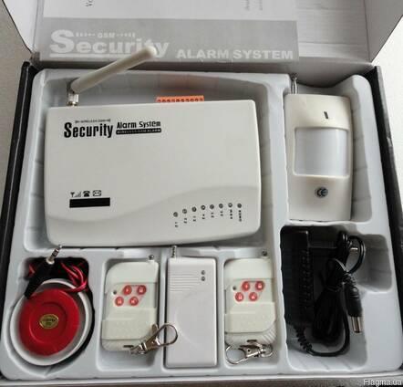 Gsm сигнализация, охранная система, русское меню