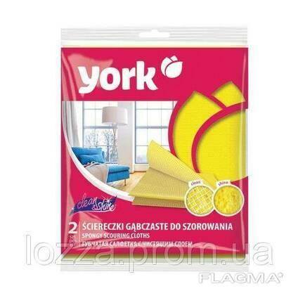 Губчатая салфетка с чистящим слоем Clean&Shine York. ..