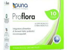 Guna ProFlora. Пребиотики и пробиотики для ЖКТ. 10 саше, 25 г.