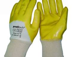 Х/б перчатки покрытые нитрилом