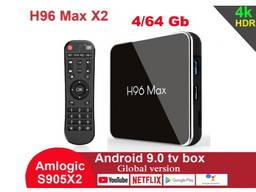 H96 Max X2 4/64GB Amlogic S905X2 ТВ приставка TV Box A95X96