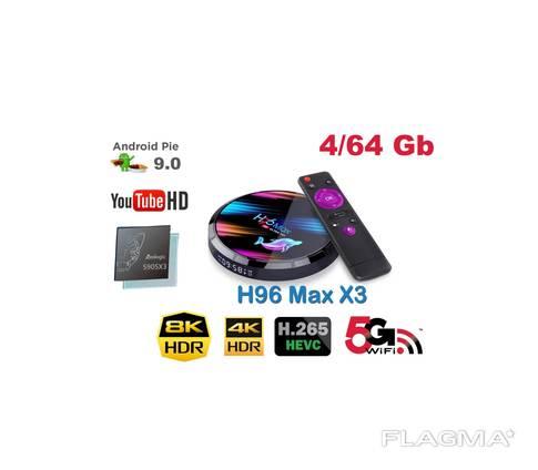 H96 Max X3 4 64Gb S905X3 ТВ приставка Smart TV box HK1A95X96