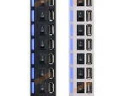 Хаб USB 2.0 7 портов с переключателями на каждый порт, Black, 480Mbts High Speed. ..