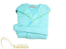 Халат дитячий махровий з аплікацією, блакитний Код: 4812-03