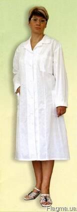 Халат медицинский белый, ткань бязь женский, мужской