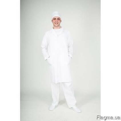 Халат медицинский мужской ткань бязь
