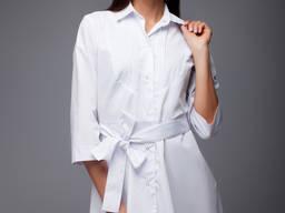 Халат белый для косметолога, униформа для салона красоты