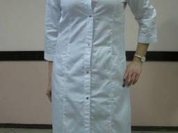 Халат медицинский женский на кнопках, пошив под заказ