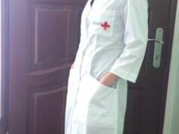Халат для медиков, фармацевтов, медсестер, медицинский
