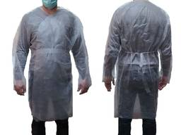 Халат одноразовый защитный с рукавами из спанбонд XL 1шт гол