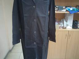 Халат рабочий мужской ткань бязь черная 100% хб