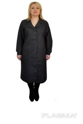 Женский халат черный цвет, ткань бязь