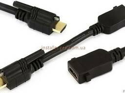 HDMI 4Kх2К кабель 15 см M-F с фиксатором Monoprice MP8062