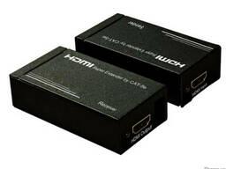 HDMI удлинитель по двум кабелям витой пары САТ 5е/6
