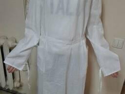 Хирургический халат, белая бязь гост
