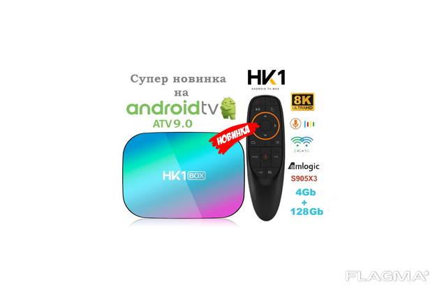 HK1 BOX на AndroidTV 4/64Gb S905X3 TV Mi box Mecool KM9 Pro