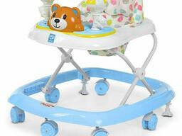 Ходунки детские на колёсах Bambi музыкальный (Голубой) (M 3656-2(Light-Blue))
