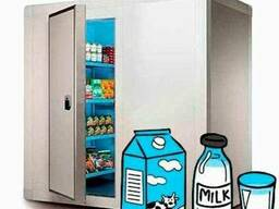 Холодильная камера для молока и молочной продукции.