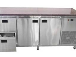 Холодильный стол 2 двери и 2 выдвижных ящичка с гранитной столешницей