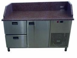 Холодильный стол с гранитной столешницей и тремя бортоми Tehma 14742