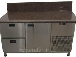 Холодильный стол с гранитной столешницей и задним бортом Tehma 14741