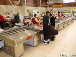 Холодильные прилавки для мяса. Торговый прилавок-стол мясной