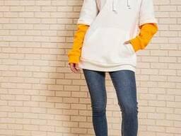 Худи женский 102R121 цвет Молочно-оранжевый