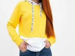 Худи женское 102R051 цвет Желтый
