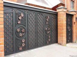 Художественная ковка ворот, распашные кованые ворота