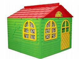 Детский игровой домик со шторками Doloni TOYS пластиковый (02550/3)