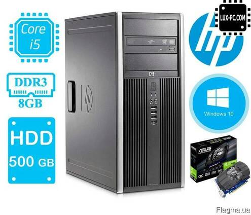 Игровой Комплект компьютера HP Compaq 8300 ELITE Tower на i5