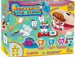 Игровой набор для лепки Fun game Вправний стоматолог 7310