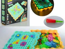 """Игровой набор TU LE HUI """"Diy Light Puzzle"""" 196 деталей (TLH-09)"""