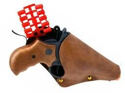 Игрушечный пистолет с кобурой Edison Giocattoli Derek Steel 19см 6-зарядный (571/23)