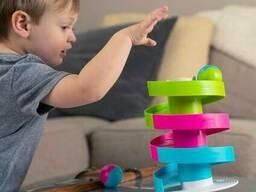 Игрушка развивающая Трек-балансир для шариков Fat Brain Toys Wobble Run (F273ML)