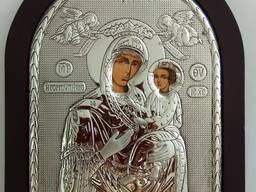 Икона Божией Матери - посеребрение 25, 5*20, 5 см.