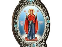 Икона из ювелирного сплава Божией Матери Нерушимая стена в позолоте 2.78.0976лп