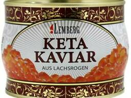 Икра красная кеты ТМ Lemberg - Лемберг ж/б 500 грамм