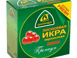 Икра красная лососевая Кеты 100г Россия Шаланда жесть банке