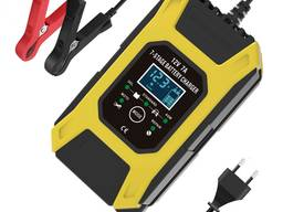Foxsur 12V/7A импульсное автоматическое автомобильное зарядное устройство для АКБ