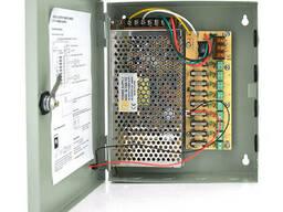 Импульсный блок питания 12V-15A/9CH в боксе с замком перфорированный, 9-ти канальный, Q20
